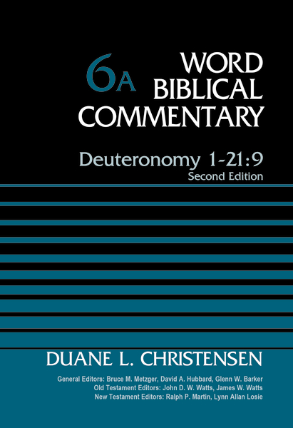 Deuteronomy 1-21:9, Volume 6A