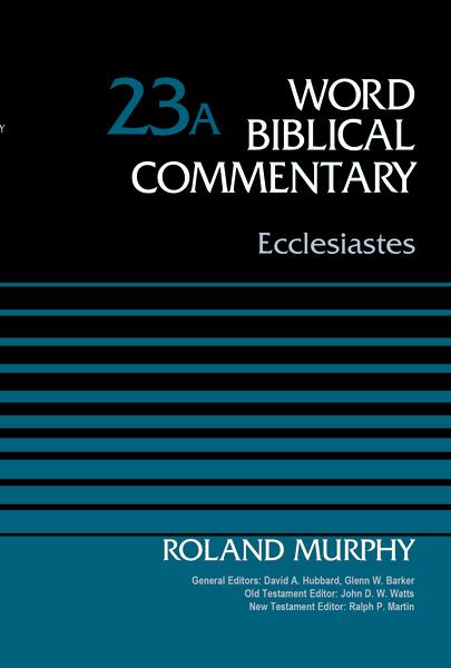 Ecclesiastes, Volume 23A